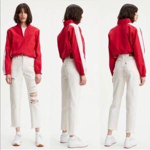 Levi's Premium | Distressed High Rise Mom Jeans